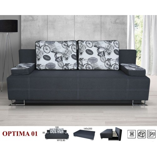 OPTIMA NR 01 FABRIC: ASPEN 96/ GRAY