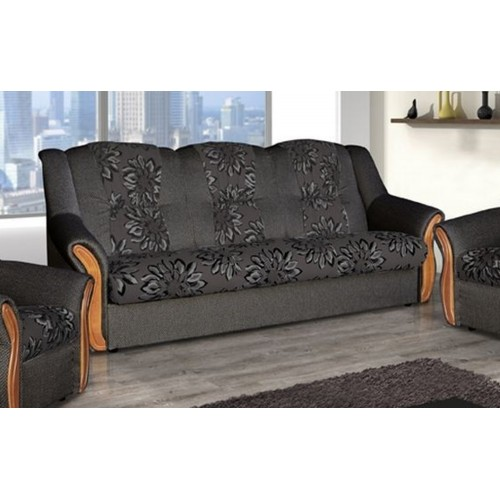 COUCH ALANA 3R, DARK BROWN