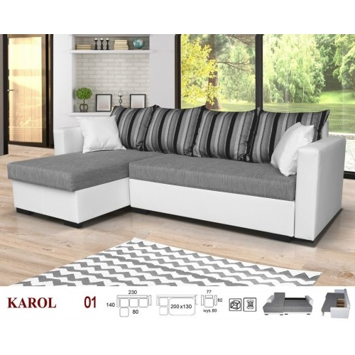 KAROL, Model no. 01, fabric: INARI 91 + D511 + PILLOWS STRIPS PATERN