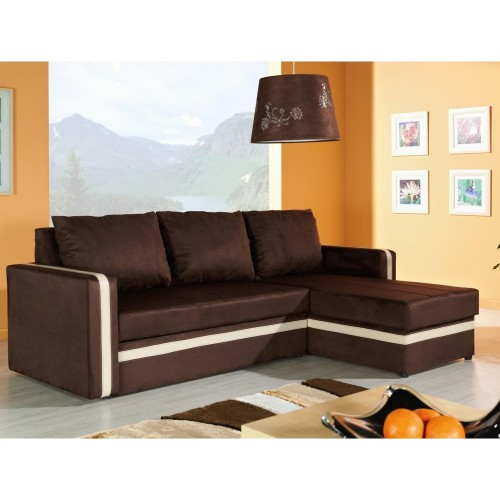 EUFORIA CORNER SOFA BED, fabric Antara BROWN
