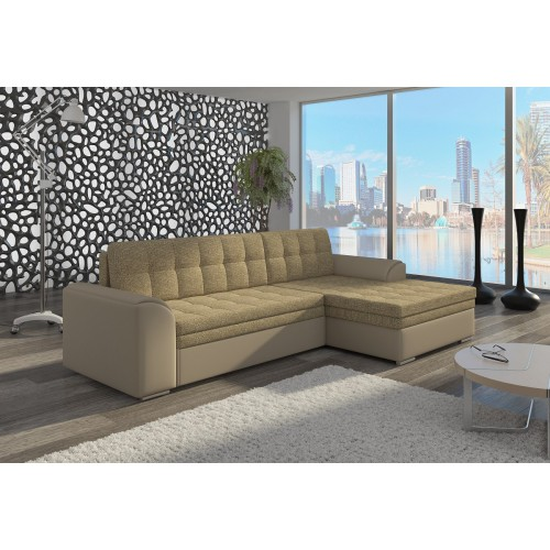 CONFORTI fabric Berlin 03 + Soft faux leather 033 beige, III price group, right side