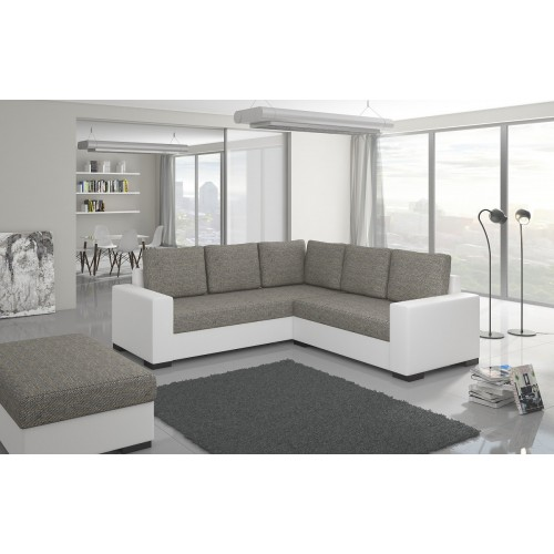 CANIS fabric Berlin 01 + Soft faux leather 017 white, III price group